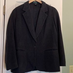 J Crew Dark Grey Wool Blazer